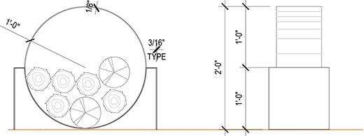 Plan support à bûches tendance DOT S 0250-05
